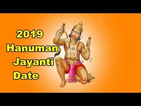 2019 hanuman jayanti date and time In India
