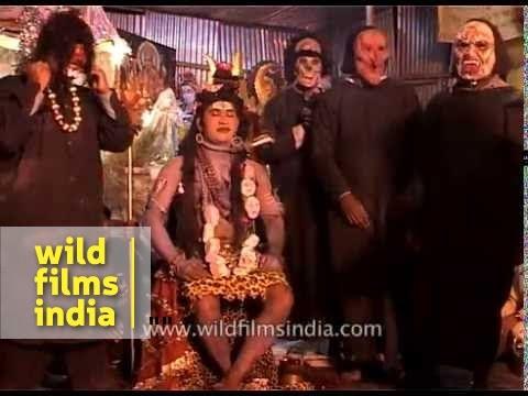 An Indian man, dressed as Hindu God Lord Shiva - Amarnath Yatra