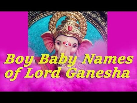 Baby Names Inspired by Lord Ganesh - 80 Hindu and Vedic Boy baby names - www.jothishi.com