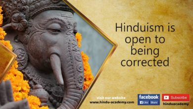 Evolution in Hindu tradition  -Hinduism is open to being corrected