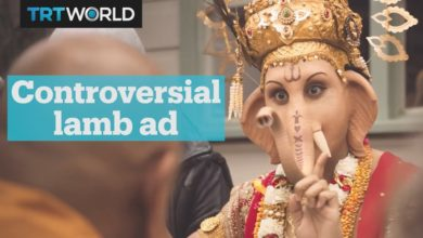 Hindus are angry after ad features their god Ganesha eating lamb