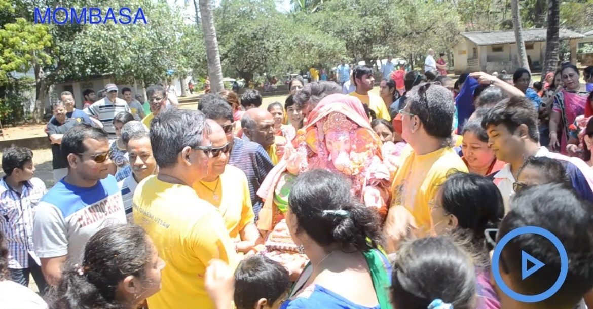 Hindus celebrate the birthday of their elephant-headed god, Ganesha