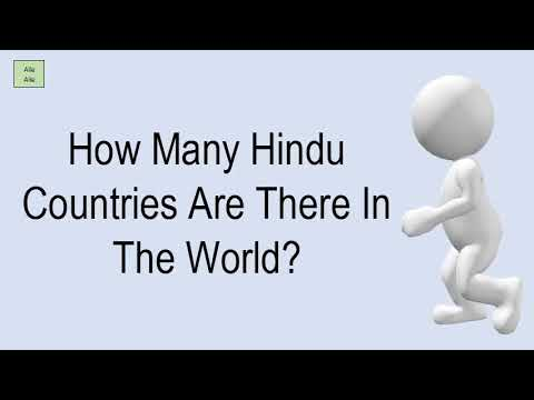 How Many Hindu Countries Are There In The World?