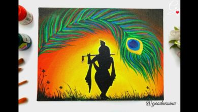 Janmashtami Special/ Krishna Painting Step by Step for Beginners
