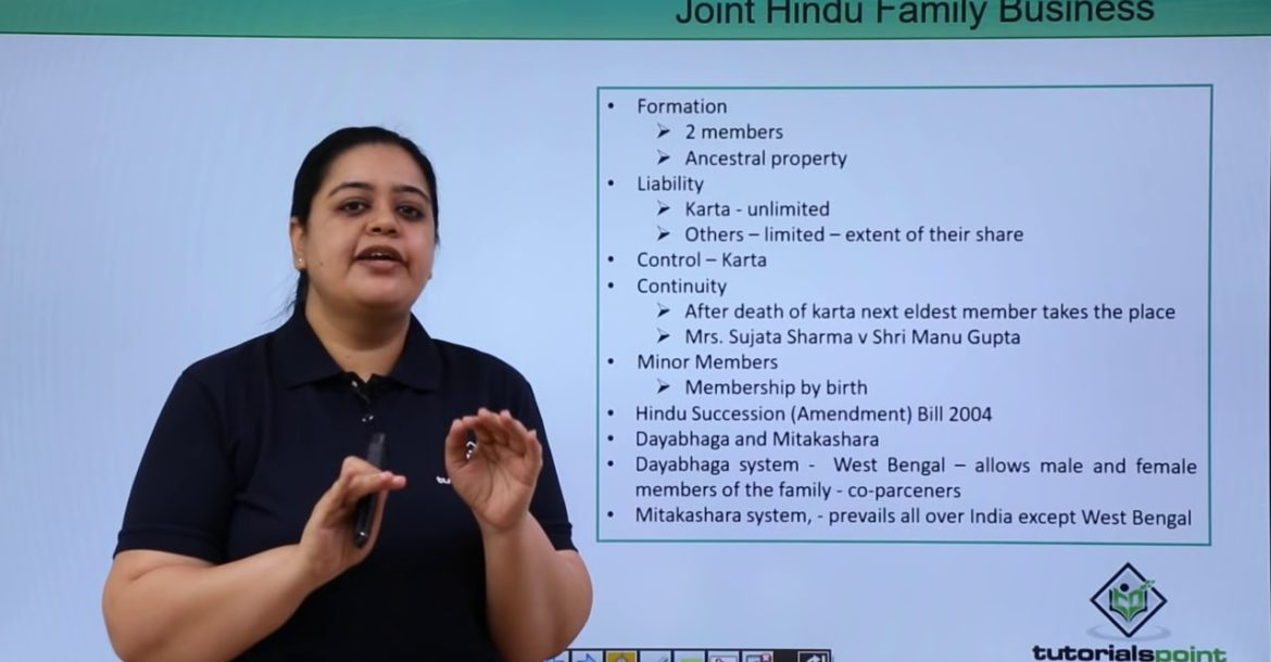 Joint Hindu Family Business
