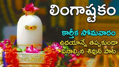 Lingashtakam - Lord Shiva Songs | Brahma Murari surarchita Lingam Song | Telugu Devotional Songs