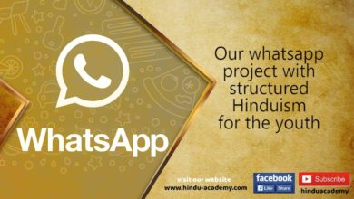 Our whatsapp project with structured Hinduism for the youth