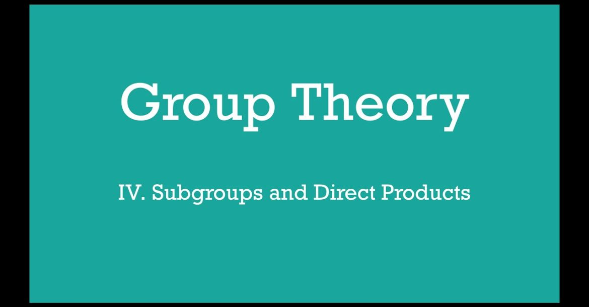 Subgroups and Direct Products