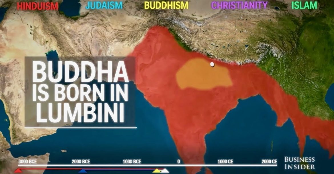 Animated Map Shows How The Top 5 Religions Spread Around The World Through History