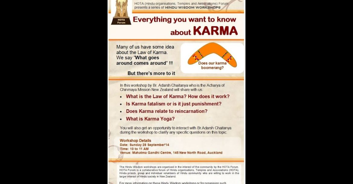 Everything you want to know about KARMA - Hindu Wisdom Workshop
