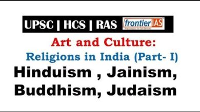 Arts and Culture: Religions in India (Part- I):Hinduism , Jainism, Buddhism, Judaism