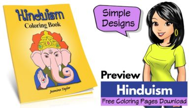 Hinduism Hindu faith religion symbols coloring book REVIEW, FREE download pages sheets [2019]