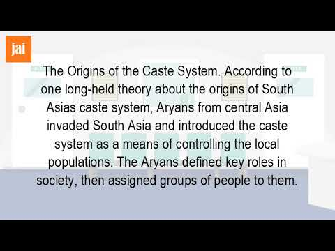 How Did The Caste System Develop In Early India?