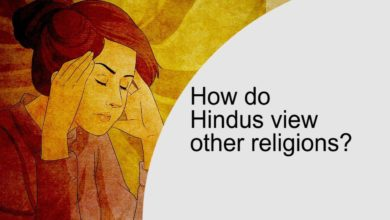 How do Hindus view other religions