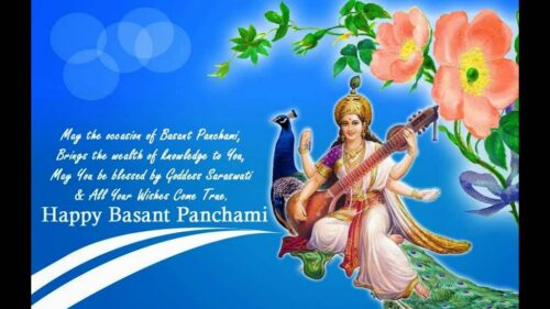 Maa Saraswati is the hindu goddess of the Vasant Panchami festival.