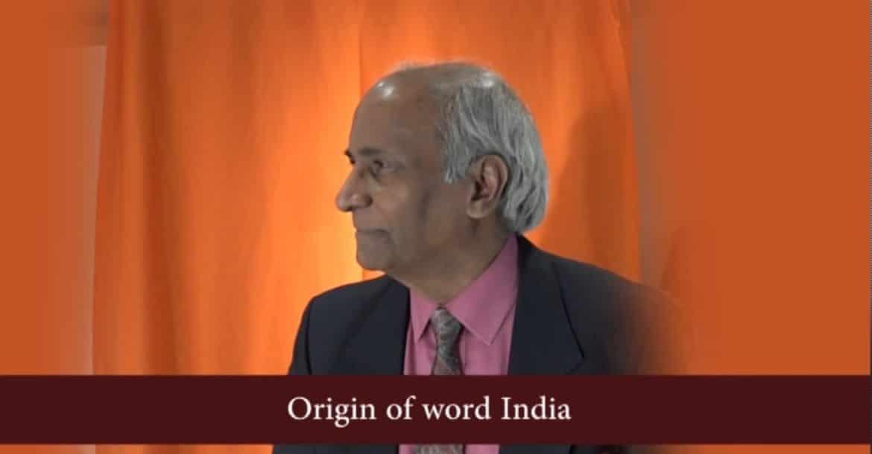 Origin of word India