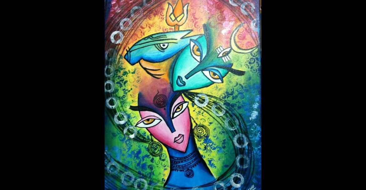 # 17/100 Abstract Lord Shiva And Parvati