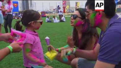 Celebrations in Dubai for Hindu festival of colours