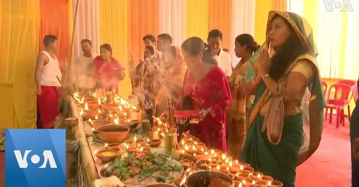 Devotees in India On Eighth day of Hindu Festival Navratri