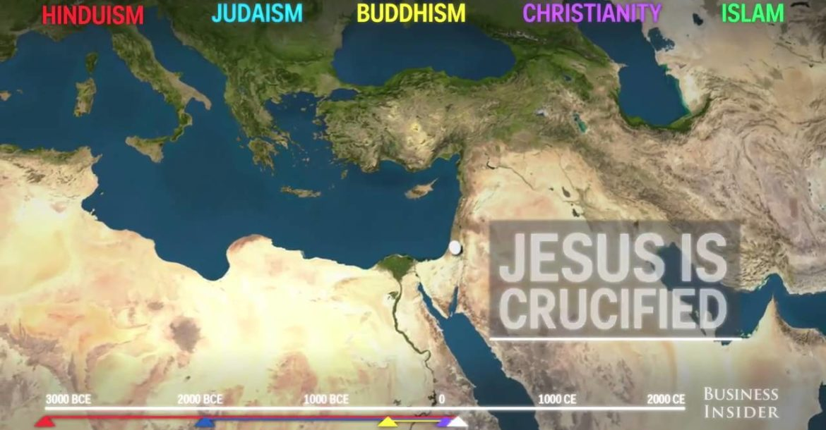 First religious in the world is Hinduism: Animated map shows how religion spread around the world