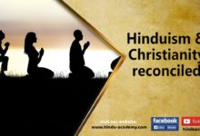 Hinduism and Christianity reconciled