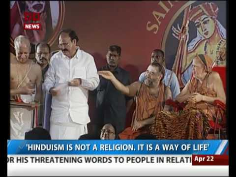 Hinduism is not a religion it is a way of life: Venkaiah Naidu