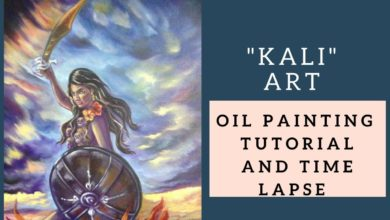 """Kali"" - Oil Painting Tutorial – Goddess Kali Art"
