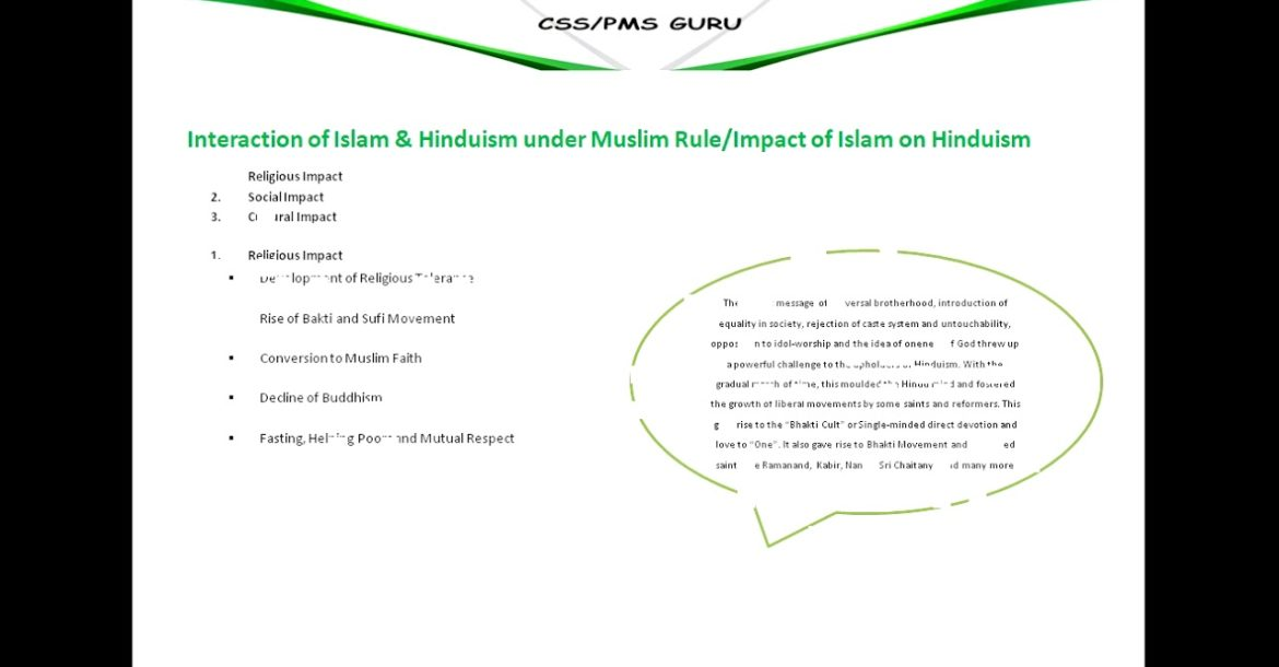 14_Interaction of Muslims and Hinduism