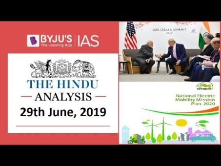'The Hindu' Analysis for 29th June, 2019 (Current Affairs for UPSC/IAS)