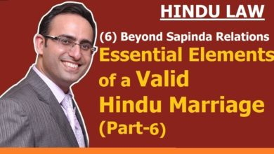 FAMILY LAW -HINDU LAW #8 || Beyond SAPINDA Relation || Essential Elements of Marriage- (Part-6)