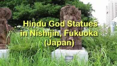 Hindu God Statues in Japan (Nishijin, Fukuoka)