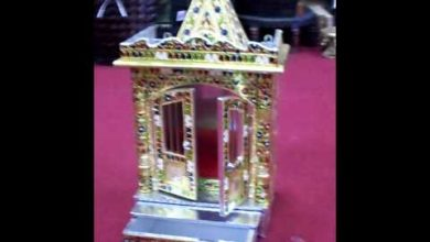 Hindu Golden Temple Altar Shrine Puja Aarti for Home.mov