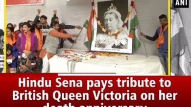 Hindu Sena pays tribute to British Queen Victoria on her death anniversary