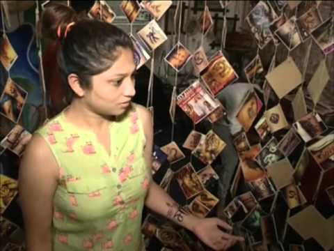 Tattoos of gods popular among youngsters in western India during Hindu festival