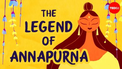 The legend of Annapurna, Hindu goddess of nourishment - Antara Raychaudhuri & Iseult Gillespie