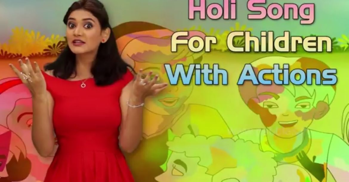 Holi Song For Children in English | Holi Song With Actions For Kids | Holi Celebration Songs