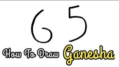 How To Draw God Ganesh From 65 Number Step By Stey