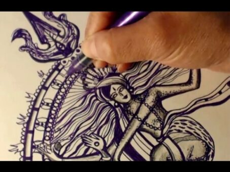 Speed Drawing: Hindu God Shiva as Nataraja
