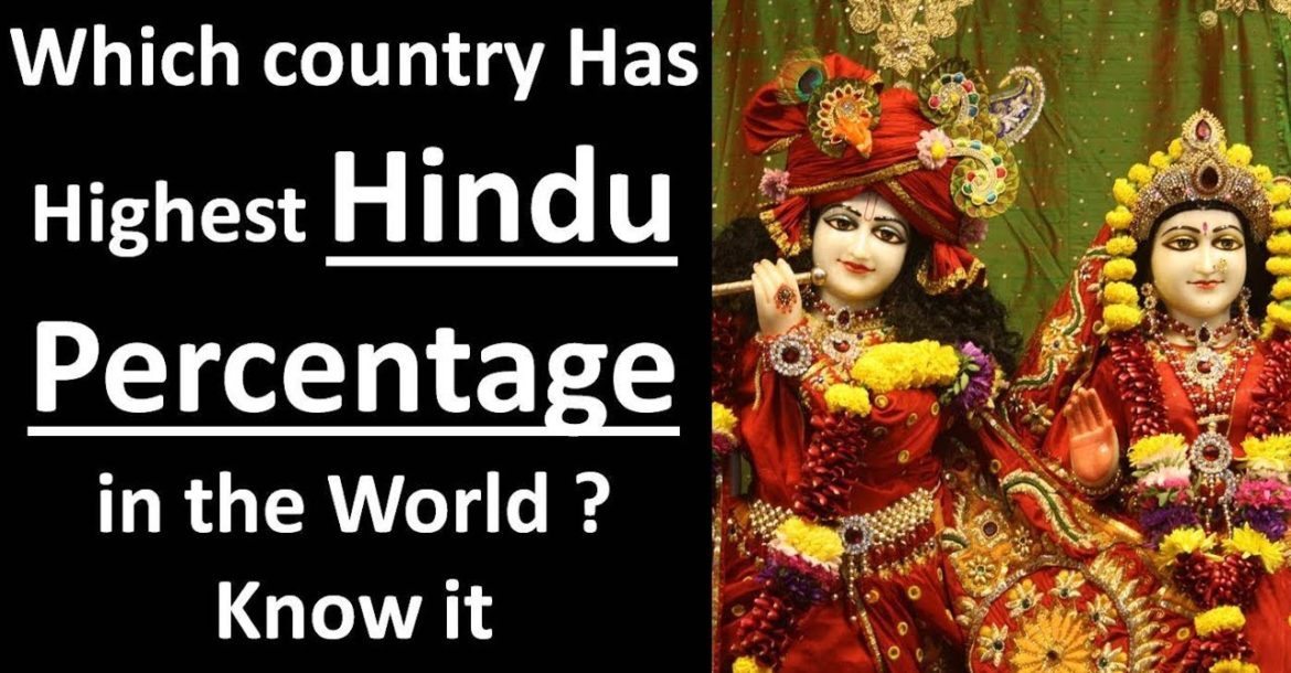 TOP 10 HINDU Country   in the World   Percentagewise