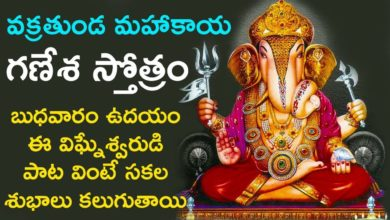 Vakratunda Mahakaya - Ganesha Stotram | Lord Ganesha Songs | Telugu Devotional Songs