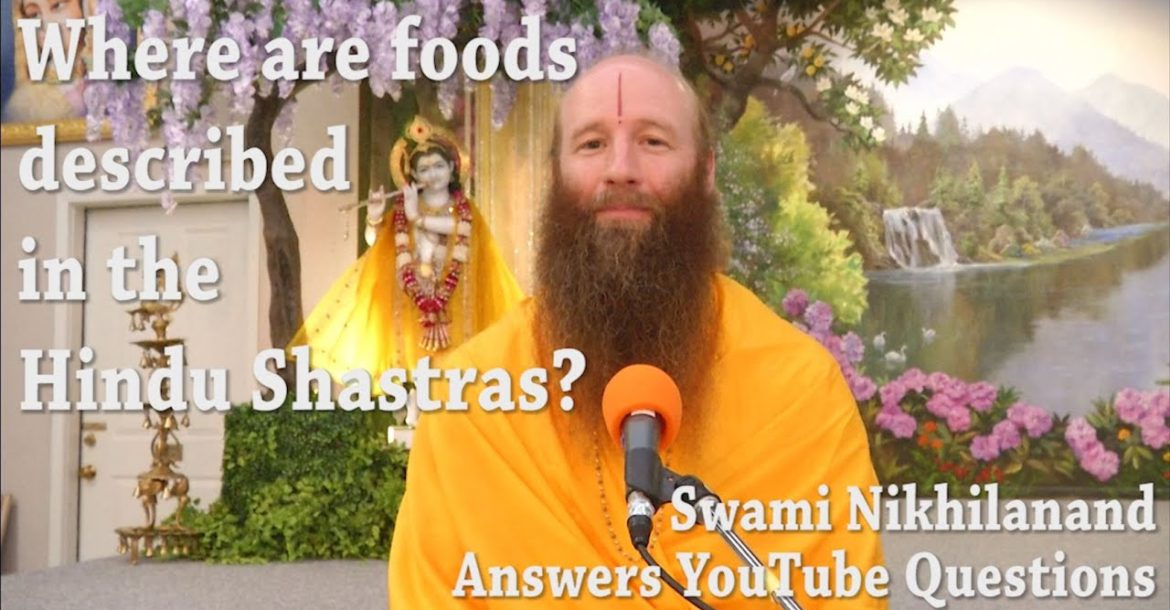 Where does it specify what foods to eat in Hinduism  Answering your Youtube Comments