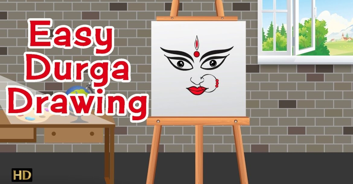 Easy Durga Drawing | Navratri Special | Kids Learning Videos (HD)
