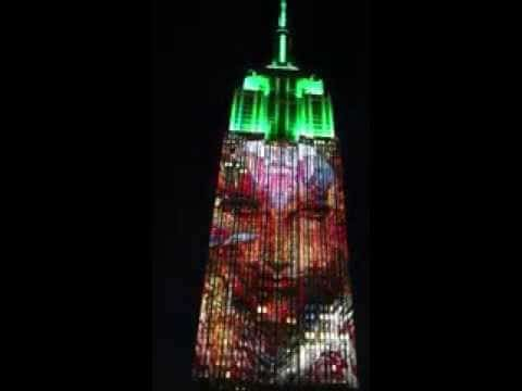 Goddess Kali on New York Empire State Building (Video)