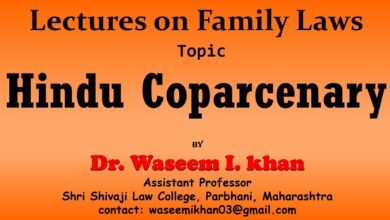 Hindu Coparcenary | Lectures on Family Law