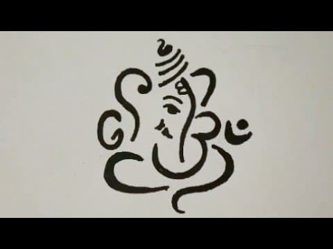 How to Draw GANESH CHATURTHI Special Easy Drawing for beginners || Ganpati Drawing