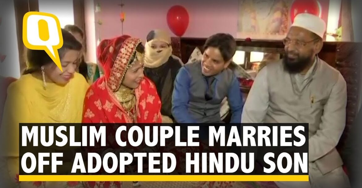 Muslim Couple Abides by Hindu Rituals to Marry Off Adopted Son | The Quint