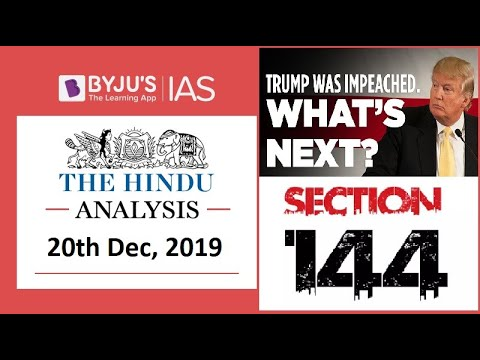 'The Hindu' Analysis for 20th December, 2019 (Current Affairs for UPSC/IAS)