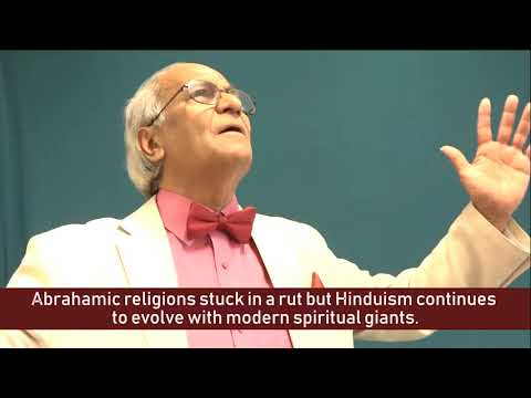 Abrahamic religions stuck in a rut but Hinduism continues to evolve with modern spiritual giants