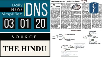 Daily News Simplified 03-01-20 (The Hindu Newspaper - Current Affairs - Analysis for UPSC/IAS Exam)