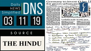Daily News Simplified 03-11-19 (The Hindu Newspaper - Current Affairs - Analysis for UPSC/IAS Exam)